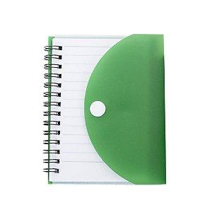 Bloco de Anotações 241 com Capa Plástica Colorida Verde e Caneta Para Transfer Laser