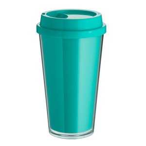 Copo Bucks Parede Dupla 500ml - Azul Tiffany - Liso - Transfer Laser