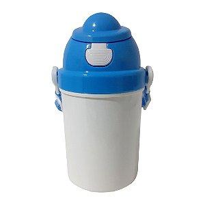 Squeeze Infantil em Polímero com Tampa e Tirante Azul - 400ml