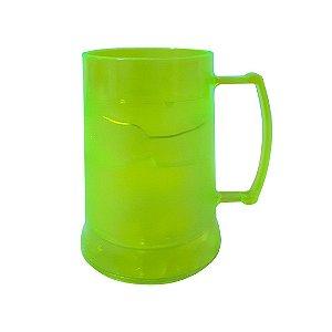 Caneca de Acrilíco c/ Gel - Amarela Neon