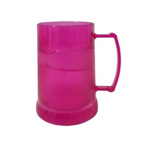 Caneca de Acrílico c/ Gel - Rosa
