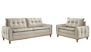 Conjunto sofá 2 e 3 lugares Rondomóveis 820 - Rústico Piaui