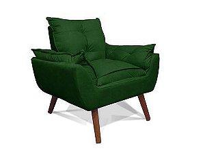 Poltrona Decorativa Opala Suede verde