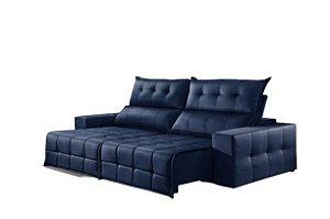 Sofá Retrátil e Reclinável 2,50 cm CB SSC Azul