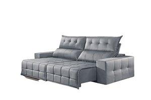 Sofá Retrátil e Reclinável 2,50 cm CB SSC Cinza