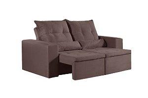 Sofa Retratil e Reclinavel Caionet Marrom 200 cm