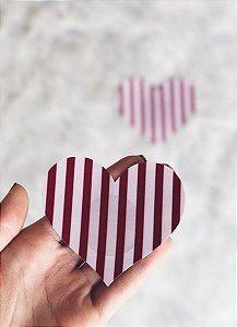 Tapa Mamilo | Coração Listrado