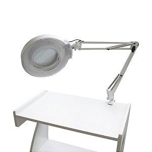 Lupa Articulada Apoio de Mesa LED Zoom 10X - Salus Brasil