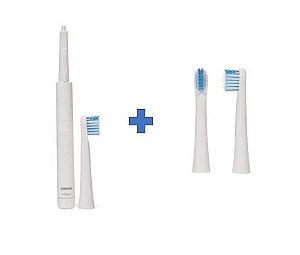Kit Escova de Dentes Elétrica ht-b223 + Refil - OMRON