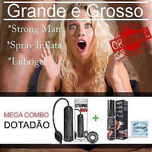 Mega Combo Dotadão - Kit Bomba peniana + Spray Inflate