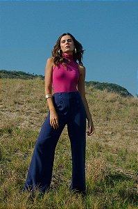 Calça Pantalona Azul Marinho Energia