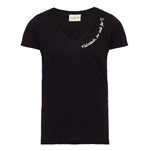 T-Shirt Fé Preta