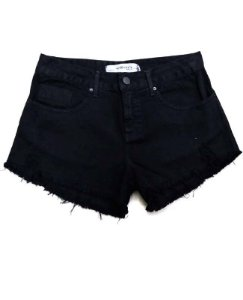 Short sarja basico preto com puido