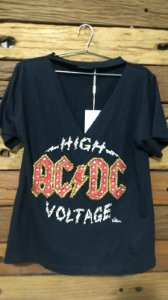T-SHIRT ROCK ACDC BORDADO VILLON
