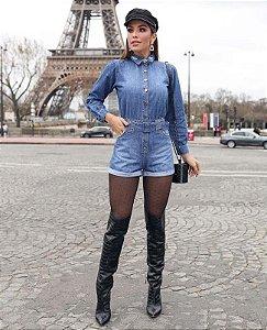 Macaquinho jeans Wellen Villon