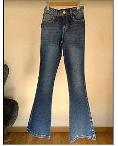 calça flare villon jeans lav media