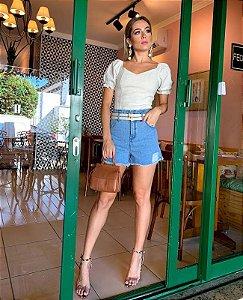 short clochard com cinto cimara villon jeans