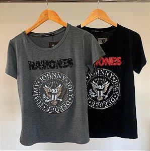 T-shirt bordada rock ramones