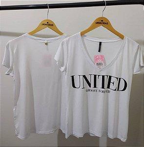 Blusa malha gola v com silk united
