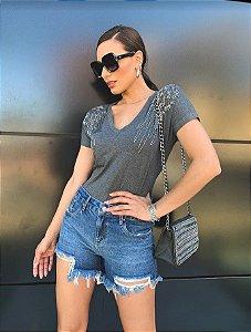 Short jeans com puidos silveria 2