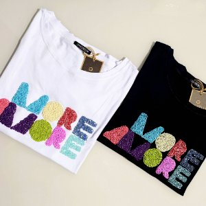 T-shirt more amore bordado misseli