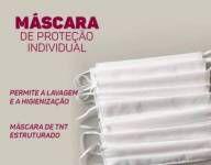 MÁSCARAS DE PROTEÇÃO PACOTE COM 10 UNIDADES