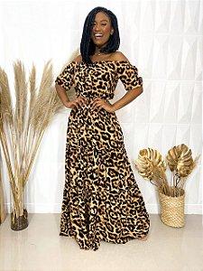 Vestido Ciganinha Animal Print