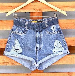 Short Jeans Cinto Forrado