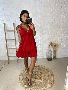 Vestido Babado Vermelho