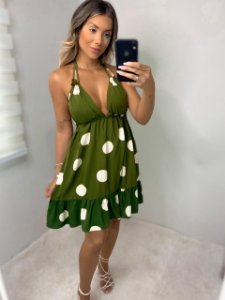 Vestido Verde Poa