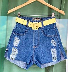 Short Jeans Cinto Amarelo