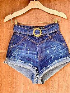 Short Jeans Escuro Estonado