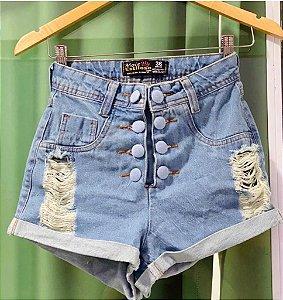 Short Jeans Botoes Duplo