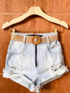 Short Jeans Claro Rasgos