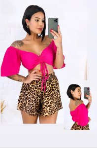 Cropped Ombro a Ombro Pink