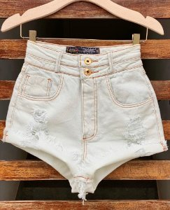 Short Jeans Off Botao Duplo