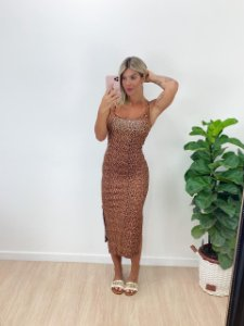 Vestido Midi Oncinha