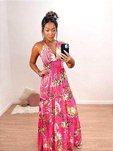 Vestido Longo Floral Pink