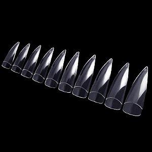 Unhas Tips Caixa com 100 unidades - Formato Estileto / Stiletto - Transparente
