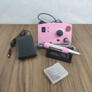 Lixa Elétrica Profissional Nail Polish Rosa 30.000rpm