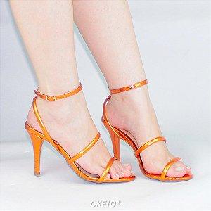 Sandália Laranja Metalizada