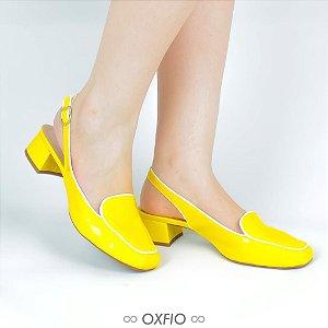 Mule Amarelo Verniz