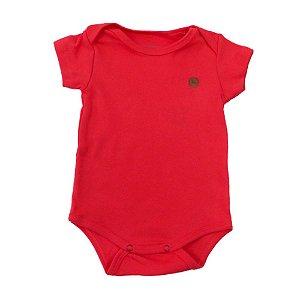 Body bebê suedine manga curta acerola