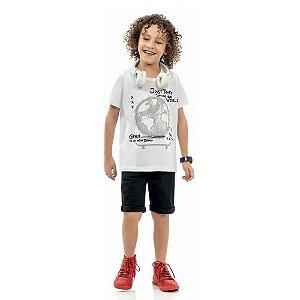 Camiseta meia malha infantil masculino