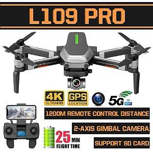 Drone L109 Pro c/ camera 4K e Gps Profissional