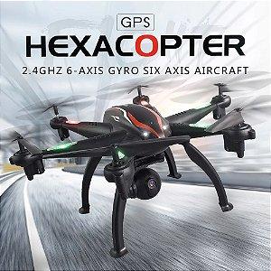 HexaDrone Profissional Predator Retorno Automatico Gimbal Gps e Camera 4k