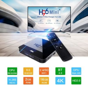 H96 mini h8 android 9.0 smart tv box 4K