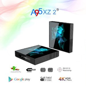 Smart tv box a95x z2 rockchip rk33118 quad-core 64bit android 9.0 2.4/5.0g duplo wifi bluethooth