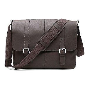Bolsa Masculina MVB Notebook Couro Jeans Marrom