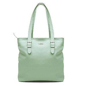 Bolsa Feminina PPOETA Shopping Bag Couro Menta